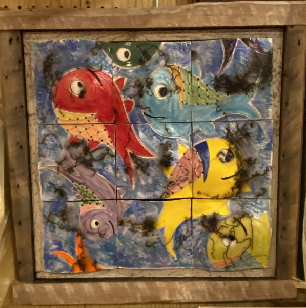 Horsehair Raku Fish Quilt