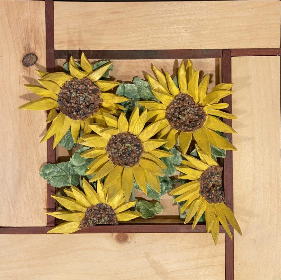 Modrian Sun Flowers