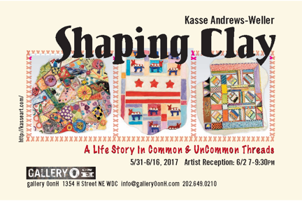 Shaping Clay Exhibit Postcard